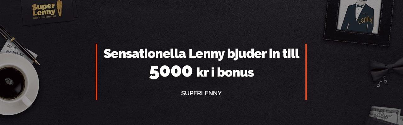 SuperLenny bjuder in till vinstpott på 5000 kr