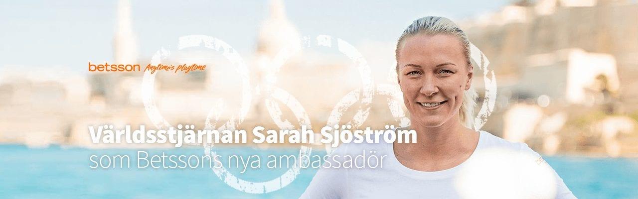 Sarah Sjöström som Betssons nya ambassadör