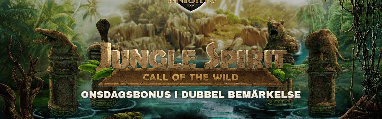 Jackpot Knights onsdagserbjudande med free spins till Jungle Spirit: Call of the Wild
