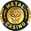 Metal casino logotype