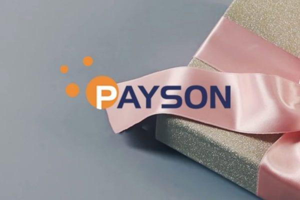 Payson betalningsmetod paket med rosa band banner