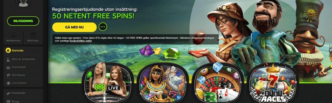 888 casino index screenshot