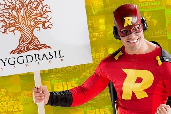 Rizk Casino presenterar Yggdrasil - banner