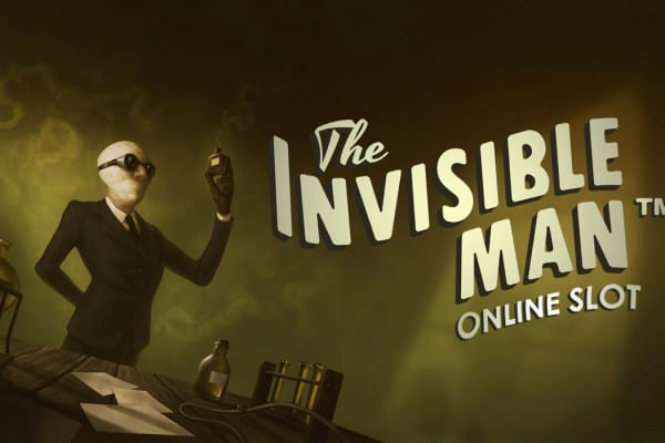 The invisible Man online slot banner